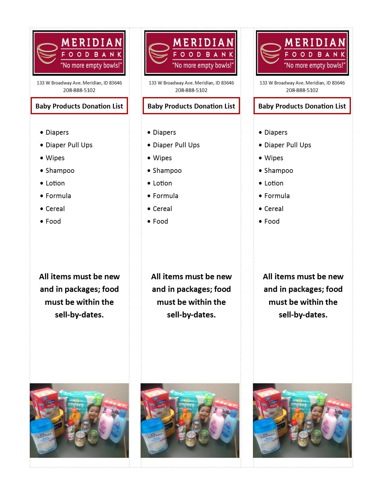 Meridian Food Bank Meridian Id