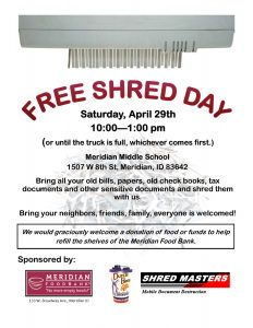 Free Shred Day @ Meridian Middle School | Meridian | Idaho | United States