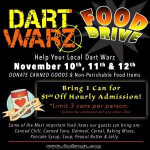 Dart Warz Food Drive @ Dart Warz   Meridian   Idaho   United States