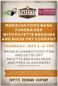Boise Fry Co. Fundraiser for Meridian Food Bank @ Boise Fry Co.