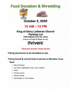 Shred Day @ King of Glory Lutheran Church