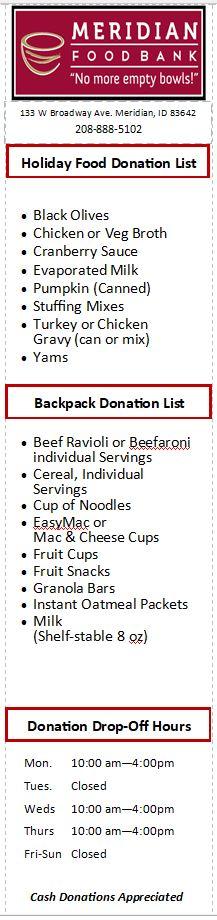 Donation Food List Bookmark-2