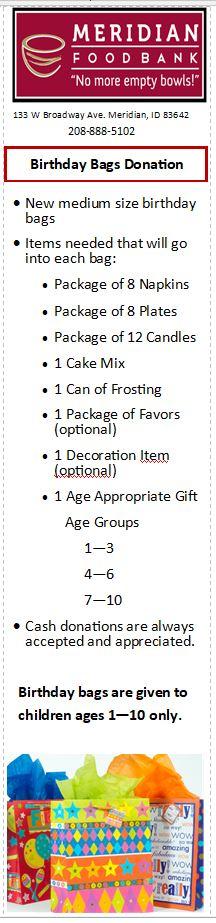 Donation Food List Bookmark-3